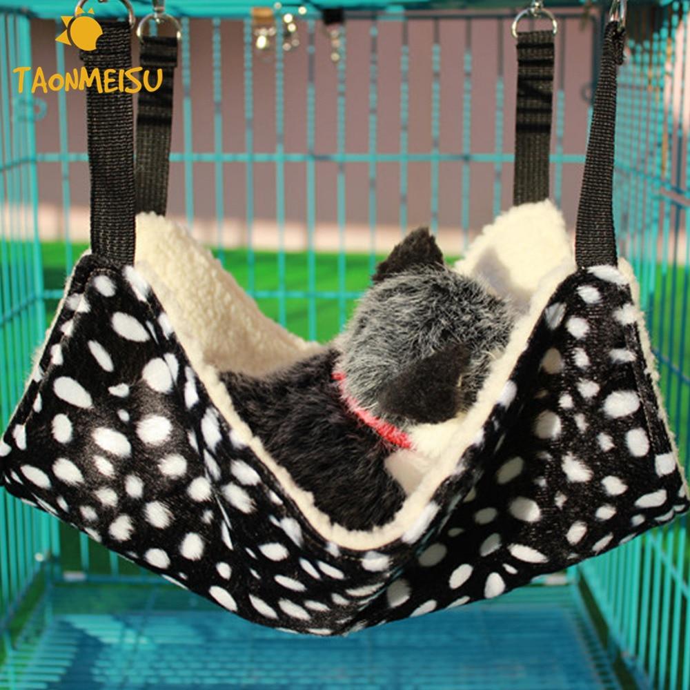 Zwarte Achtergrond Witte Stip Kat Sofa Hond Hangmat Opknoping Zachte Slaapzak Voor Stoel Kitty Rat Kleine Huisdieren Swing Nieuwste 2017