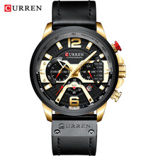 цена Luxury Watches Men Curren Saat Fashion Watch Casual Sports Wristwatch Casual Quartz Business Watch Man Clock Waterproof Reloj онлайн в 2017 году