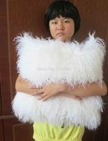 2016 White Mongolian Fur Pillow Cover Sofa Real Fur Cushion Cover Decorative Throw Pillows Pillowcase Square Tibetan 18x18
