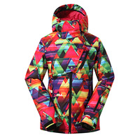 Gsou Snow Ski Jacket Women Brand New Snowboard Ski Clothing Snowboarding Suit Women Ladies Winter Warm