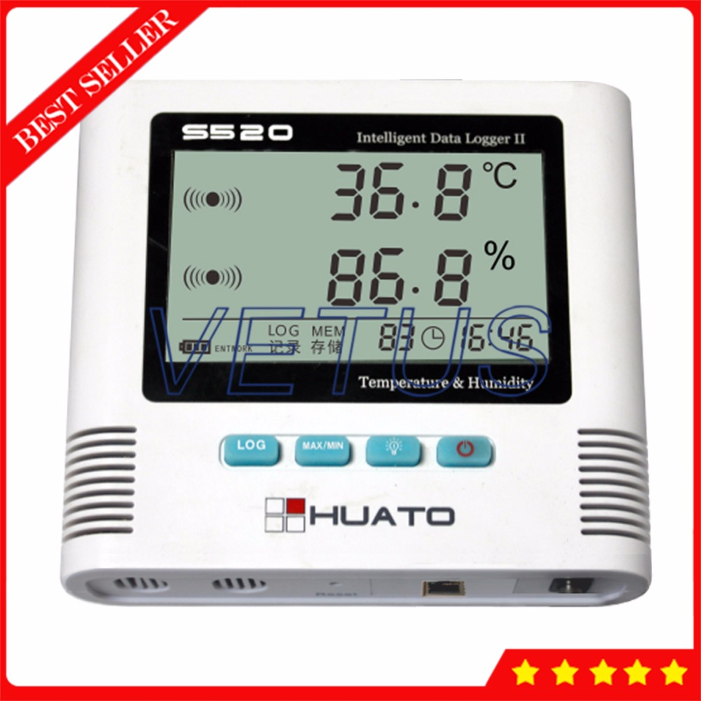 S520-TH USB Data Logger Temperature Humidity Datalogger with 4,3000 Record Meter Large LCD display thermo-hygrometer data logger temperature humidity usb datalogger thermometer data record