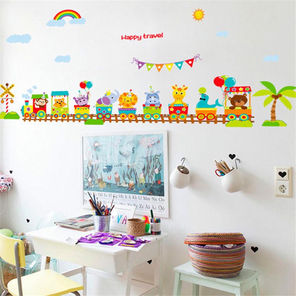 Trem De Brinquedo Item Favorito Das Crianças Papel De Parede Wallpape  Adesivo Adorno Doméstico Para Adesivos