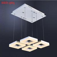 Regron площади подвесные светильники современный минимализм светодио дный 4 6 шт. подвесной светильник для кабинет Обеденная офис светила