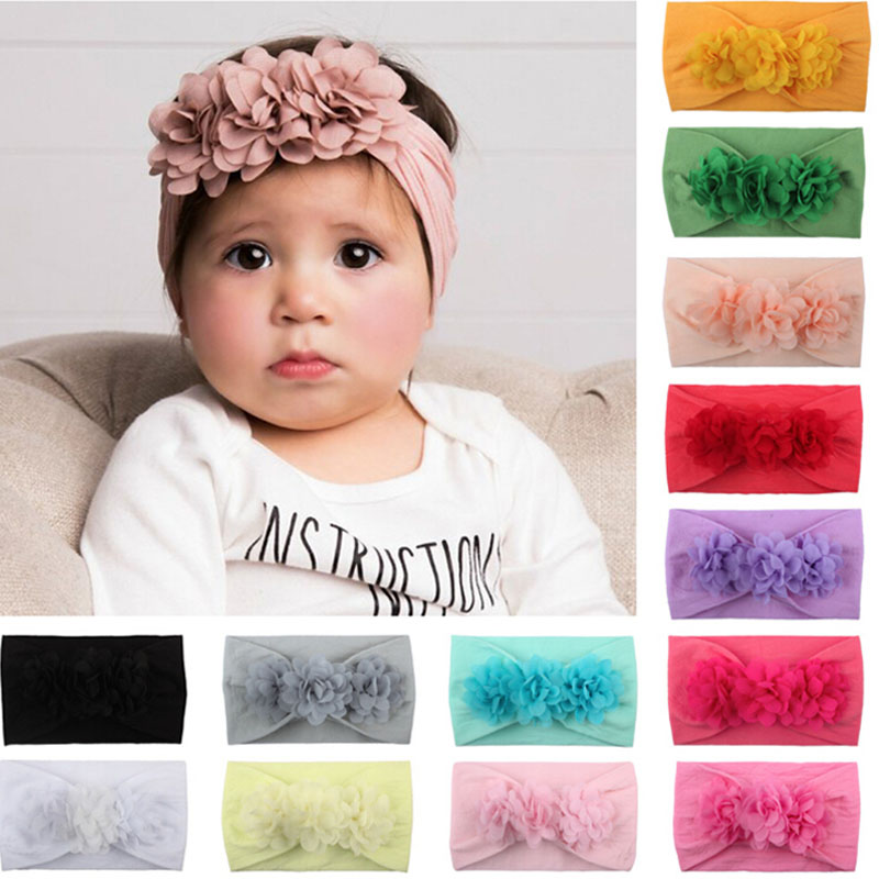 Toddler baby girls kids flower party headband hair band photo prop lovely LGVUS