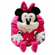 Disney Soft children's backpack cute boys and girls small class 1-5 years old cartoon plush backpack kindergarten baby backp(China)