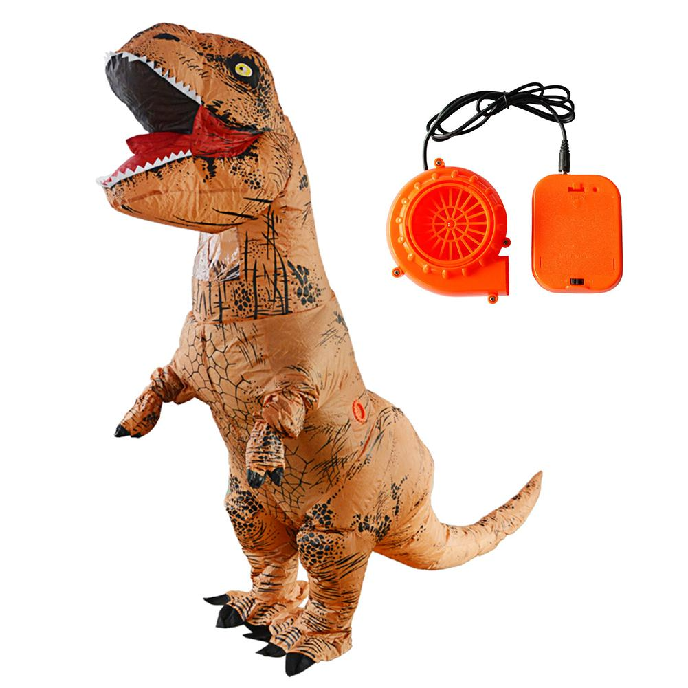 Adulte T-REX Gonflable Costume De Noël Cosplay Dinosaure Animal Salopette Halloween Costume Party Masques pour Femmes Hommes