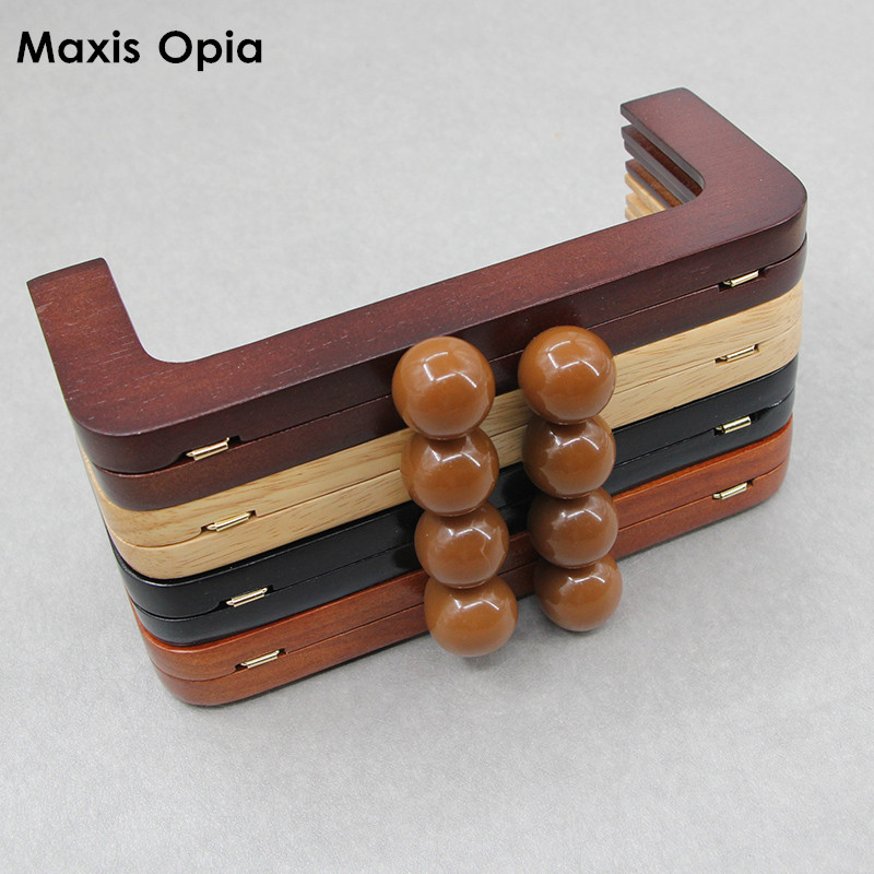 1 Piece Wooden Purse Frame Purse Handle Bag Parts 20 Cm Brown Color Solid Wood Obag Handle Accessories Fashion Wooden Bag Handle