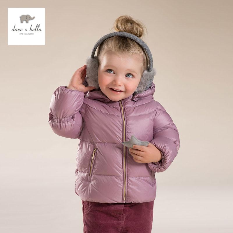 DB3899 dave bella winter  baby girls red purple black  white duck down coat db4631 dave bella winter infant coat baby girls red dots printed coat white duck down padded coat hooded outerwear