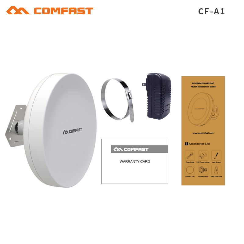 COMFAST high power Wifi Repeater Outdoor CPE WIFI Router Wifi Extender 2KM Distance 300Mbps WDS wireless Bridge antenna routers
