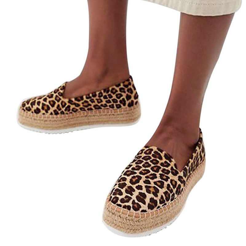 Adisputent Musim Panas Wanita Faux Suede Kanvas Sepatu Kasual Pantofel Wanita Platform Flat Balet Nyaman Wanita Sepatu 2019