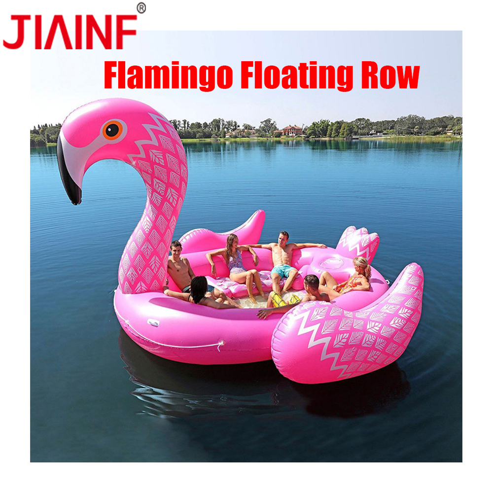 JIAINF Hot Sale 6 8 Person Huge Unicorn Pool Float Giant Inflatable Unicorn Swimming Pool Island Pool Party Floating Boat in Pool Rafts Inflatable Ride ons from Toys Hobbies
