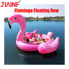 JIAINF Hot Sale 6-8 Person Huge Unicorn Pool Float Giant Inflatable Swimming Island Party Floating Boat