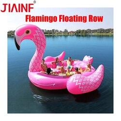 JIAINF offre spéciale 6-8 personne énorme licorne piscine flotteur géant gonflable licorne piscine île piscine partie bateau flottant
