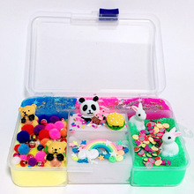 цены Slime Diy Supplies Putty Polymer Lizun Fluffy Slime Box Light Plasticine Antistress Soft Clay Toys for Kids Cloud Slime Kit 2019