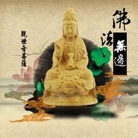 Boxwood carvings, statues of the Buddha, Buddha gift, Christmas Feng Shui, Guanyin Bodhisattva, Kwan yin