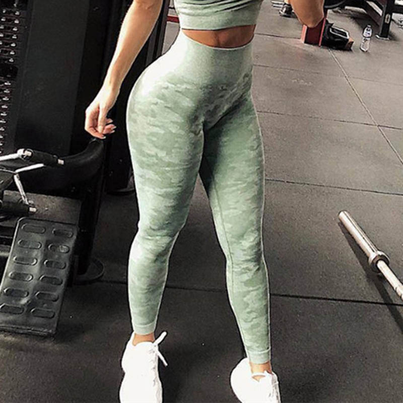Nessaj Omen Seamless Leggings Women Fitness Push Up Camouflage Leggings Sporting Leggings Seamless Workout Jeggings Female Pants