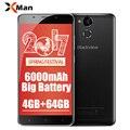 "6000 mah original blackview p2 4g telefone móvel android 6.0 5.5 ""fhd MTK6750T Octa Núcleo 4 GB RAM 64 GB ROM 13MP 9V2A Rápida carga"