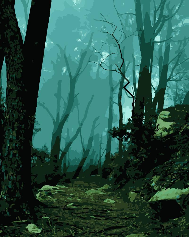 MaHuaf j645 Mystic Forest Sintra Portugal coloring by numbers ...