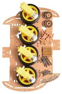Image 5 - 送料無料4WDスマートロボットカーシャーシキットとarduinoのためのスピードエンコーダ新