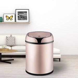 Image 5 - 새로운 패션 6L 8L 12L 유도 형 쓰레기 스마트 센서 자동 부엌 화장실 쓰레기 빈 스테인레스 스틸 폐기물 빈
