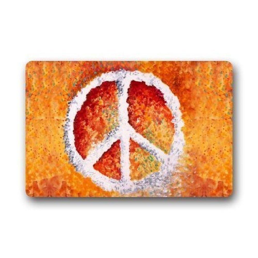 Memory Home Custom Peace Sign Welcome Door Mat Rug Indoor Kitchen Bathroom  Mats Welcome Doormat Decor