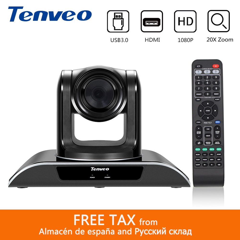 Tenveo VHD203U 1080p60fps Video Conference System 2MP PTZ HDMI Camera Video Calling and Recording 20X Zoom USB 3.0 HDMI Output image