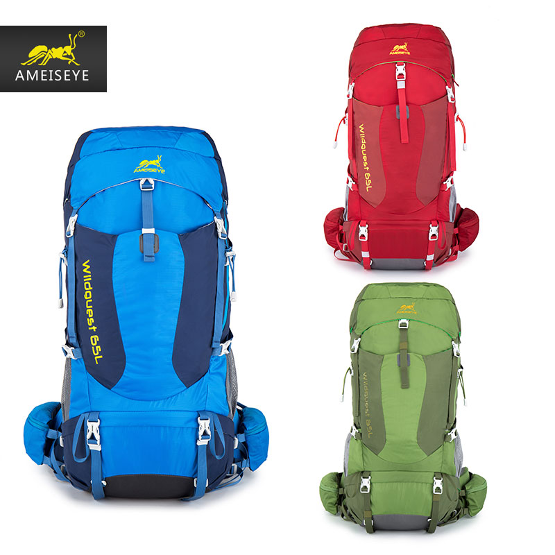 Фото AMEISEYE 65L  Backpack Rucksack  Male bag for travel  and mountaineering Waterproof Ultralight