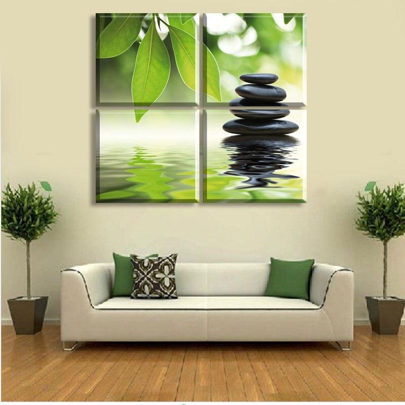 Feng Shui Wall Art aliexpress : buy new style 4 pieces wall art the feng shui