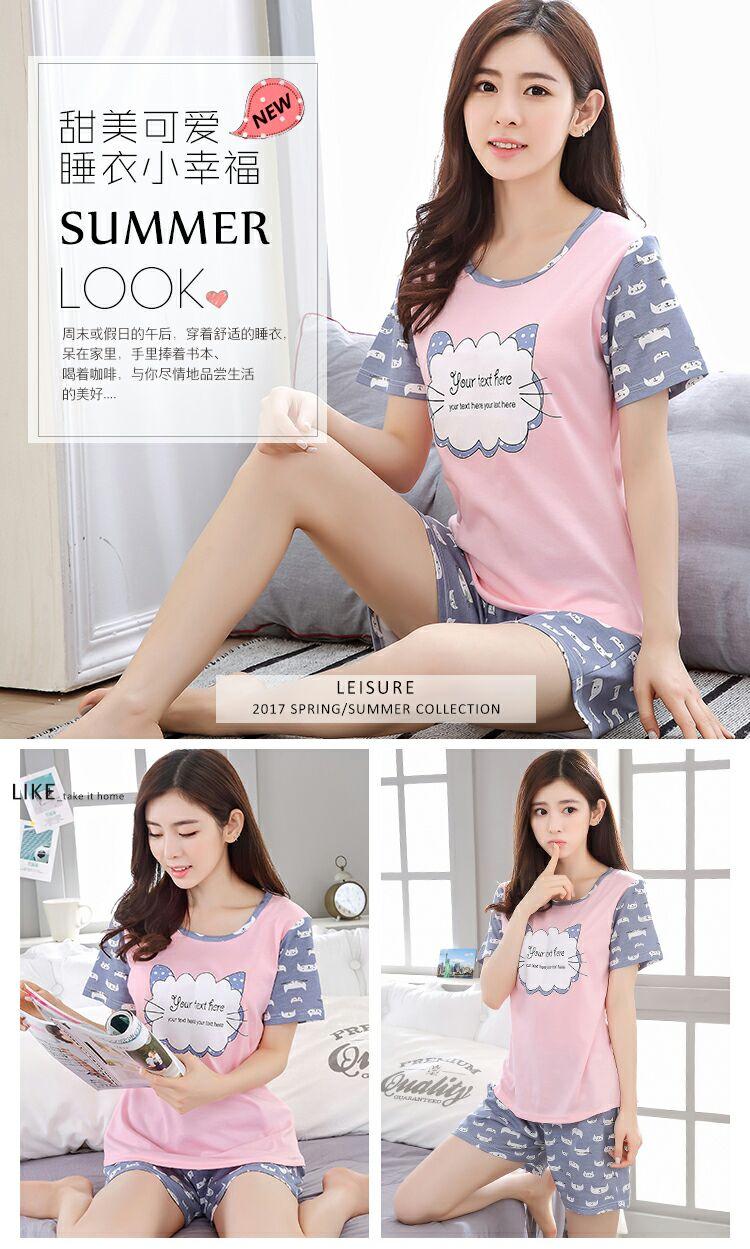 New Listing WAVMIT 2018 Spring Pyjamas Women Carton Cute Pijama Pattern Pajamas  Set Thin Pijama Mujer Sleepwear pajama Wholesale   BestDealPlus a294b0643