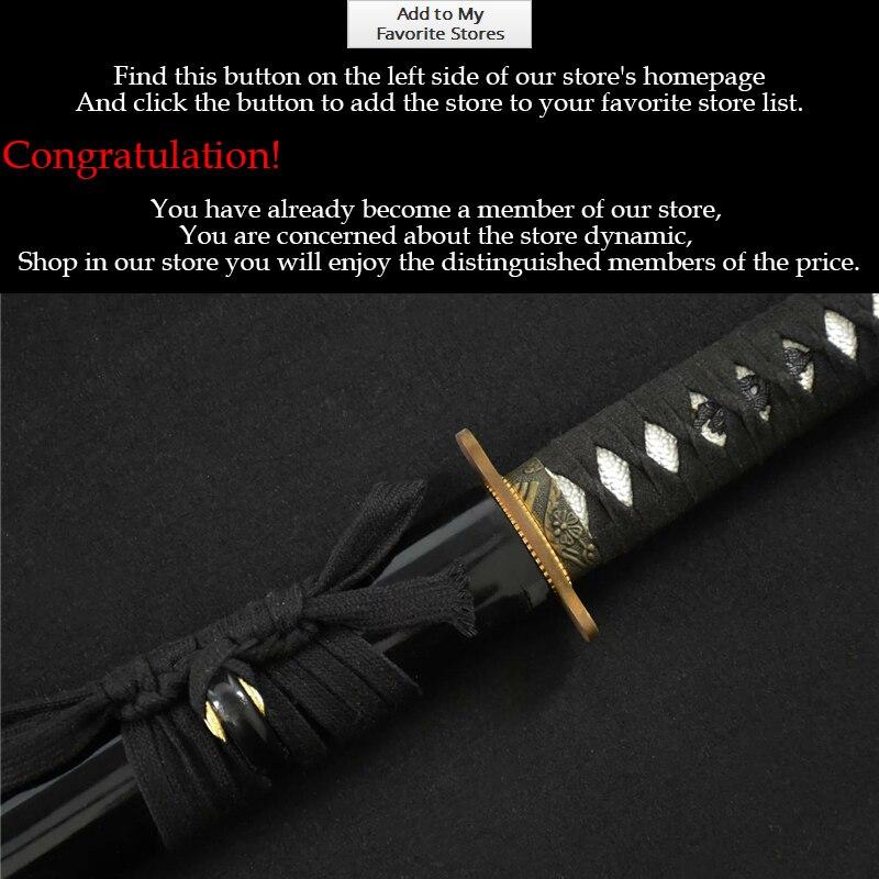 Əsl Yapon Katana Qılınc Katana 1095 Clay Tempered Samurai Qılınc - Ev dekoru - Fotoqrafiya 4