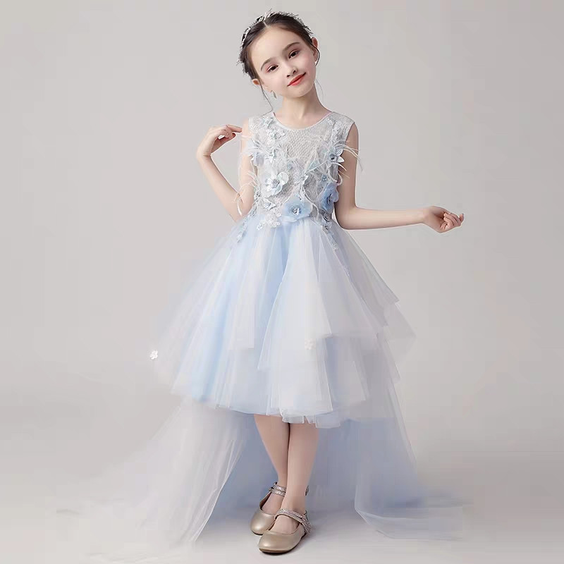 f68e38ed8e3a 2019 Luxury New Toddler Girls Birthday Wedding Party Dress Wear Kids Teens  Clothes Infant Tutu Piano Pageant Flowers Tail Dress