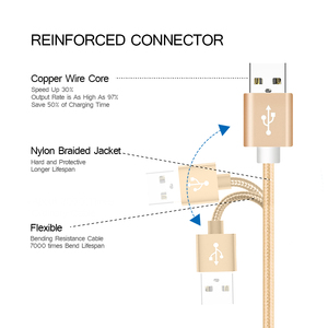 Image 3 - Câble de données Compatible avec câble USB tressé Android à charge rapide pour Xiaomi Redmi note 5 plus 4x pour Huawei pour Samsung