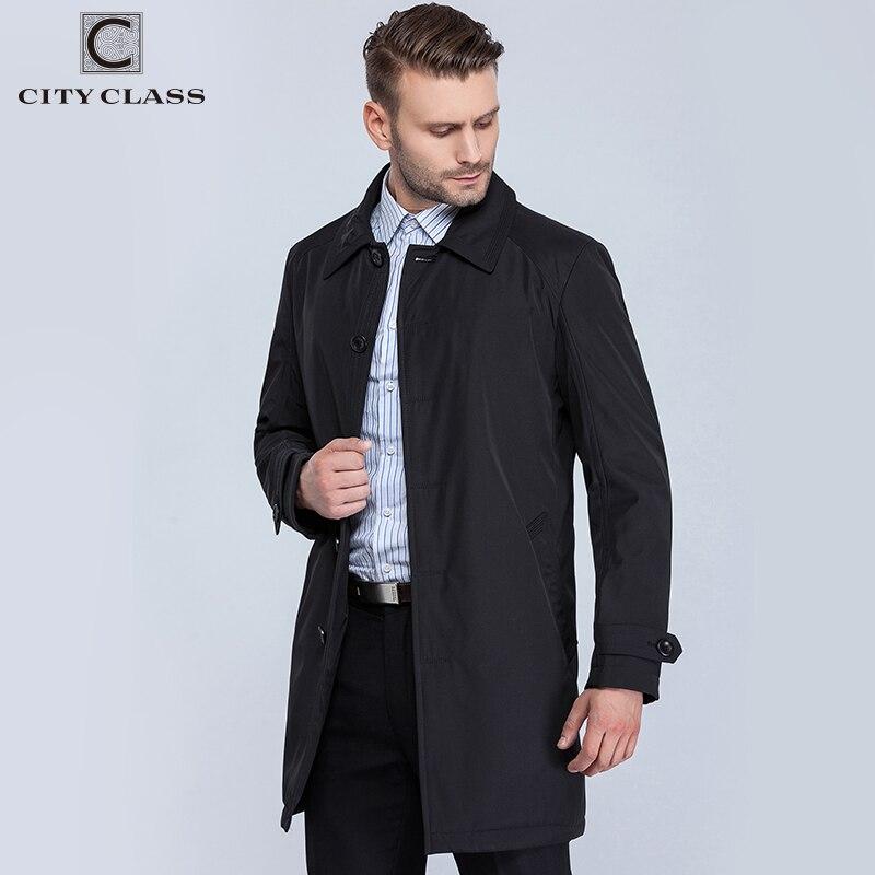 VILLE CLASSE Nouveau Hommes Automne Manteaux De Mode Casual Classique Trenchs Fit Turn-down Collar Vestes Manteaux Livraison Gratuite Pour mâle 1061-1 - 2