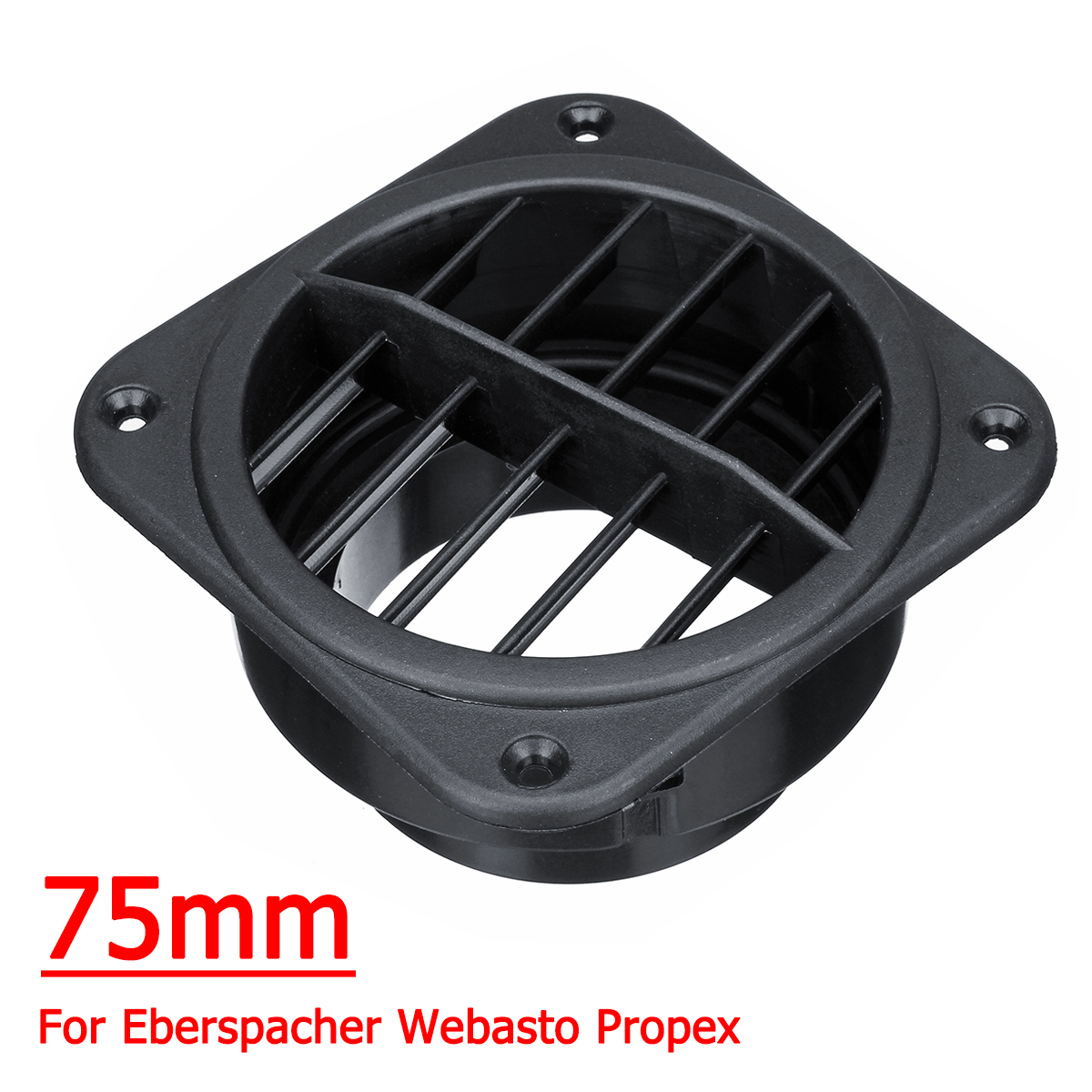 75mm Car Warm Air Vent Outlet Air Heater Ducting For Eberspacher for Webasto for Propex Plastic75mm Car Warm Air Vent Outlet Air Heater Ducting For Eberspacher for Webasto for Propex Plastic