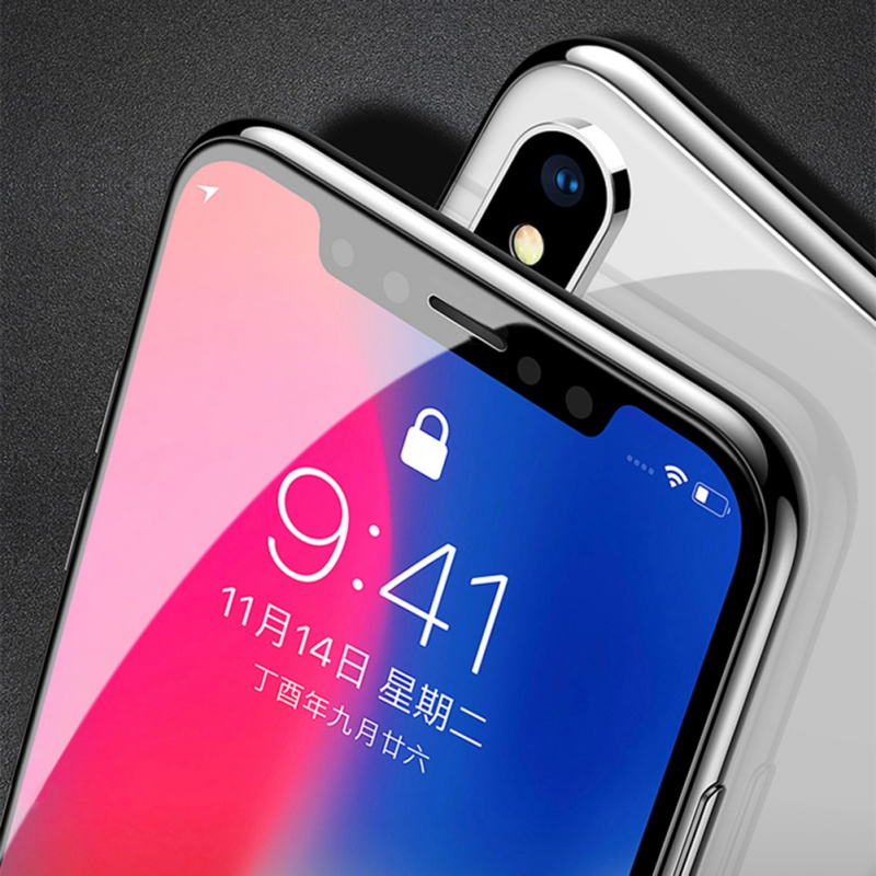 5D 9H Full Cover Edge Tempered Glass For iPhone X 7 8 Plus