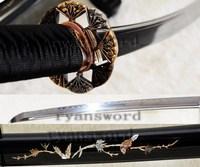 HIGH QUALITY 1095 CARBON STEEL CLAY TEMPERED SHELL SAYA JAPANESE SAMURAI KATANA SWORD