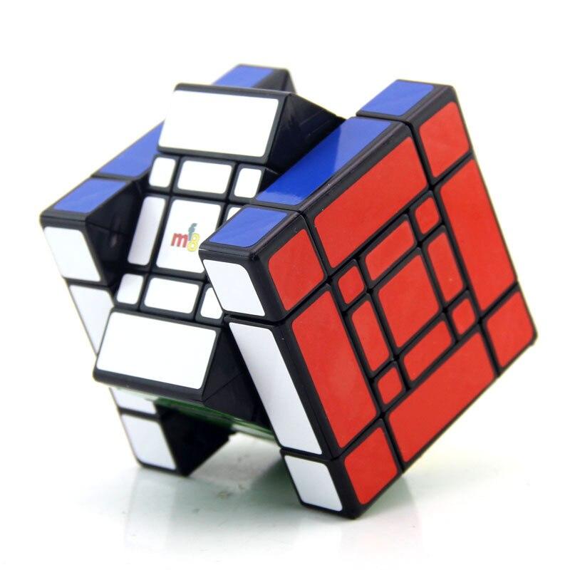 MF8 Mère et Fils Doulbe 3x3x3 puzzle de cubes Noir Autocollant Cubo jouets magiques Pour Enfants Étrange Forme Twisty cube Fils-Maman - 4