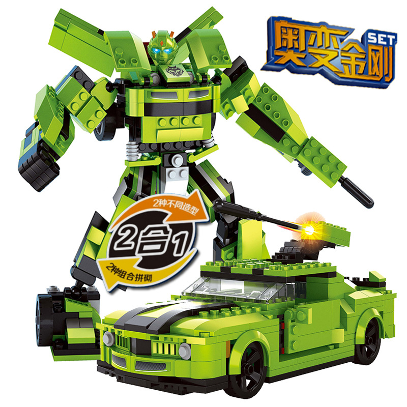 Model building kits compatible with lego car Robot 2 in 1 3D blocks ...