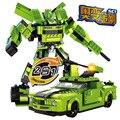Модель строительство комплекты совместимы с lego автомобиль Робот 2 в 1 3D блоки Образовательные модели здания игрушки хобби для детей