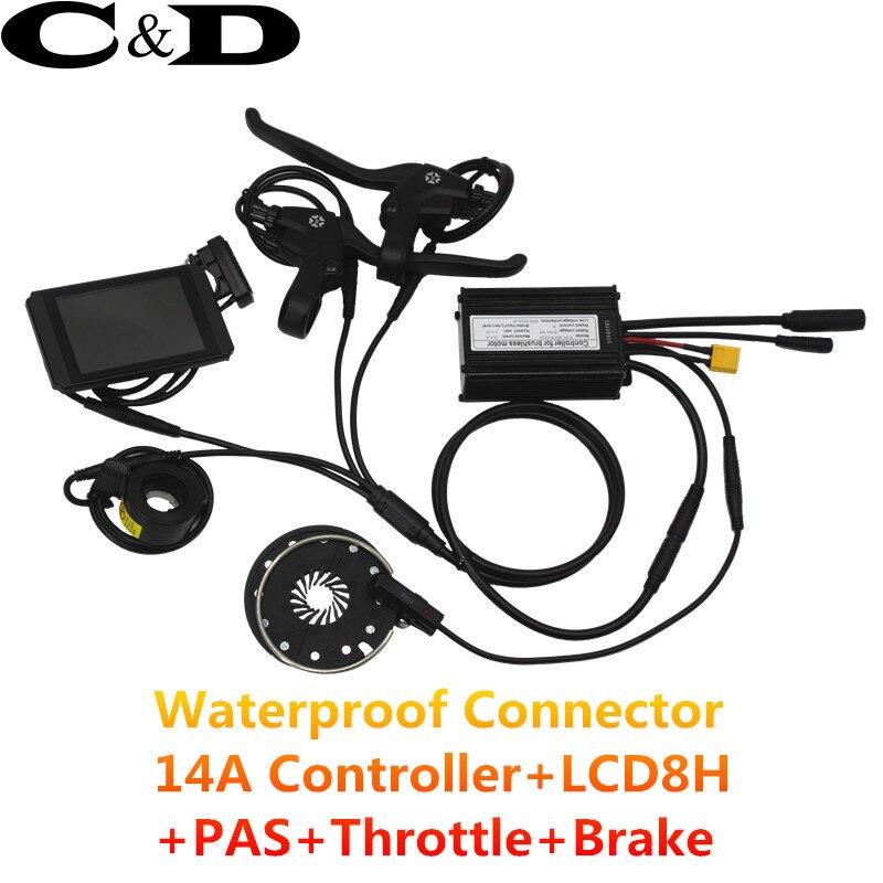 防水コネクタ 14A コントローラ LCD8H PAS スロットルブレーキ  グループ上の スポーツ & エンターテイメント からの 電動自転車アクセサリー の中 1