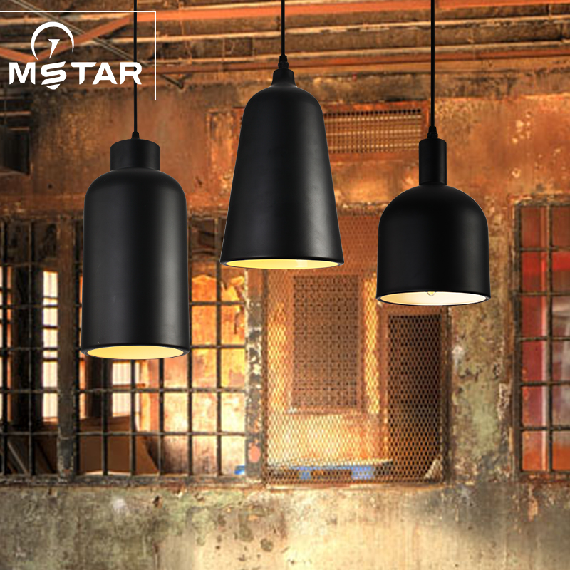 Nordic simple single head pendant light loft stair warehouse retro industrial dining room hanging lamp|Pendant Lights| |  - title=