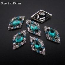 10pcs rhombus rhinestones strass nail art 3d alloy charms glitter for nails decorations AM367