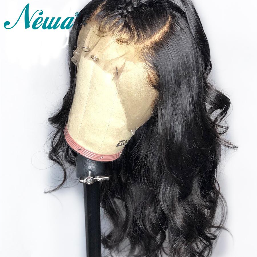 Image 4 - NYUWA Lace front Wigs Wavy Remy Hair Lace Front Human Hair Wigs Pre Plucked With Baby Hair Brazilian Lace Wigs For Black Women-in Human Hair Lace Wigs from Hair Extensions & Wigs