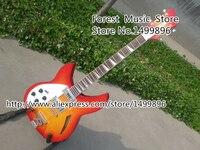 China Suneye Rick Electric Guitar Cherry Sunburst Left Handed Guitarra Semi Hollow Guitar Body & Kits Custom Available