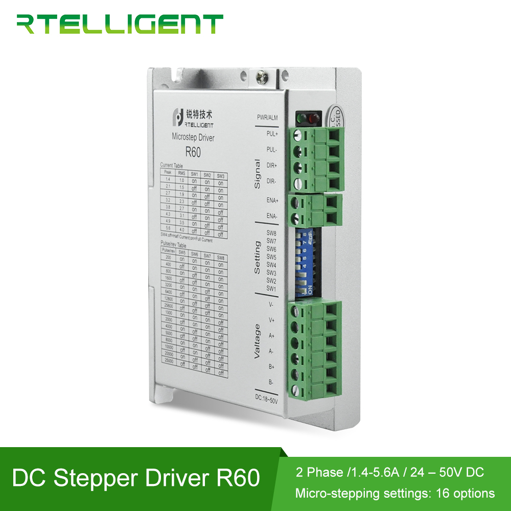 Factory Outlet NEMA 23 R60 Machine Stepper Motor Driver Controller 32 Segments 24 50VDC for NEMA