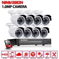 8CH 1080P HDMI DVR 1200TVL 720P HD Outdoor Security Camera System 8 Channel CCTV Surveillance