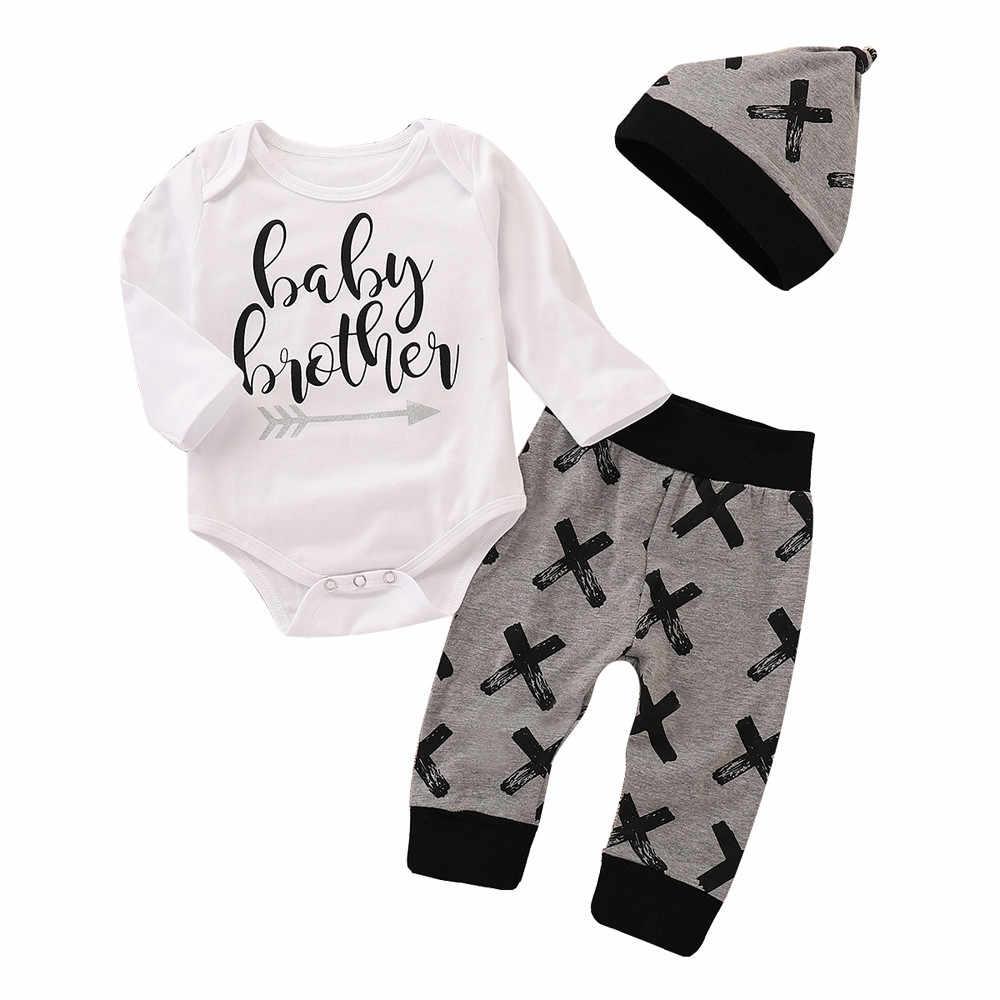 Одежда для новорожденных мальчиков комбинезон с надписью зимний детский топ +