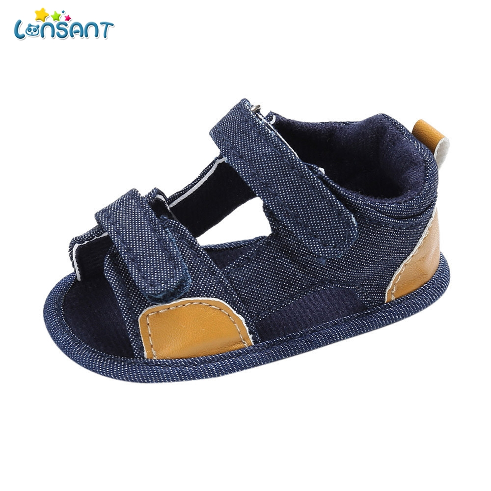 LONSANT Newborn Baby Boys Toddler Canvas Infant Kids First Girl boys Sole Crib Walkers Baby Shoes Toddler Sandals Shoes