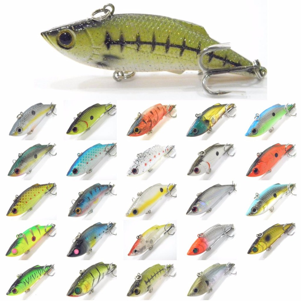 wLure 7cm 9g Tight Wiggle Sinking Lipless Crankbait Bottom Fishing with Fast Retrieve and Twitch #6 Hooks Fishing Lure L536