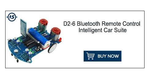 51 Single-chip Linear Car AT89C2051 Patrol Car Kit DIY D2-2 Smart Tracking Car Kit Components